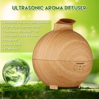 LED Essential Oil Diffuser Ultrasonic Humidifier Air Mist Aromatherapy Purifier