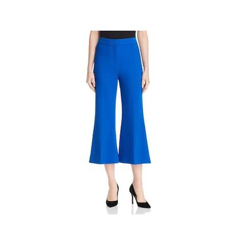 Kobi Halperin Womens Ayla Cropped Pants Flare Mid-Rise - Azure - 2