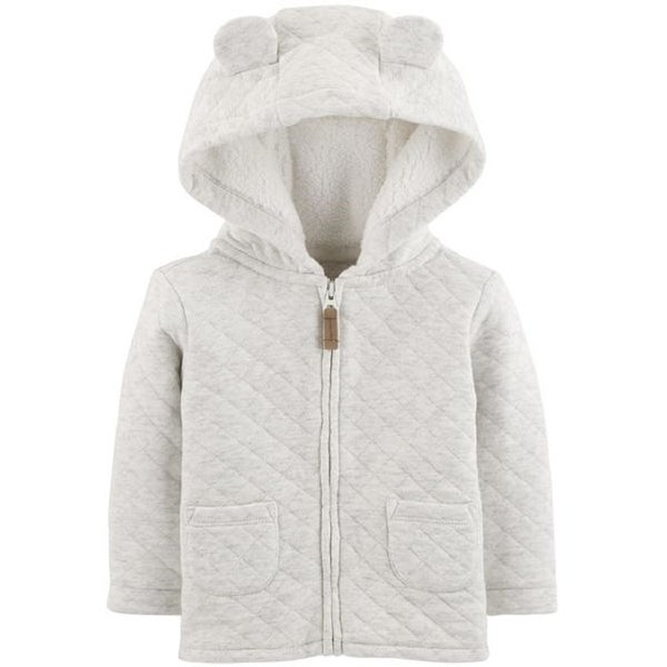 24d5d0ceb1bb Shop Carter s Baby Zippered Hooded Quilted Jacket - Free Shipping On ...