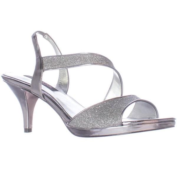 Nina Newark Sparkle Slingback Dress Sandals, Gunmetal Bliss
