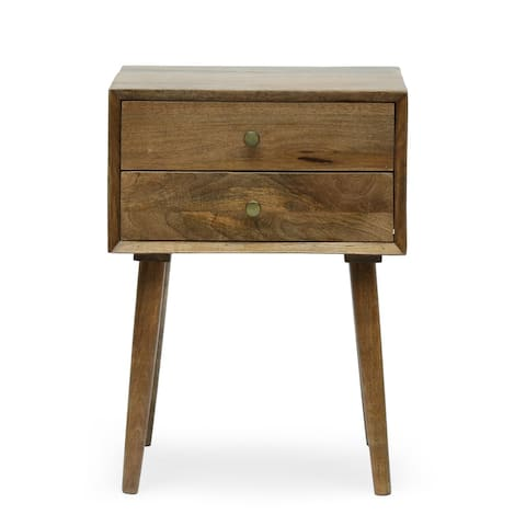 Chafin Indoor Mango Wood Handcrafted Side Table by Christopher Knight Home