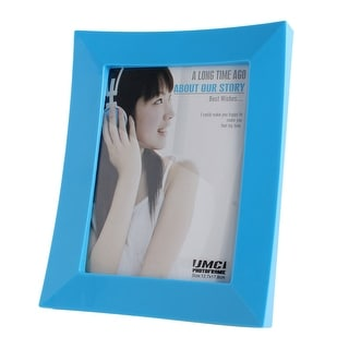 Unique Bargains Bedroom Ornament Plastic Rectangular Photo Picture Frame Blue