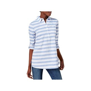 Tommy Hilfiger Womens Blouse Cotton Striped