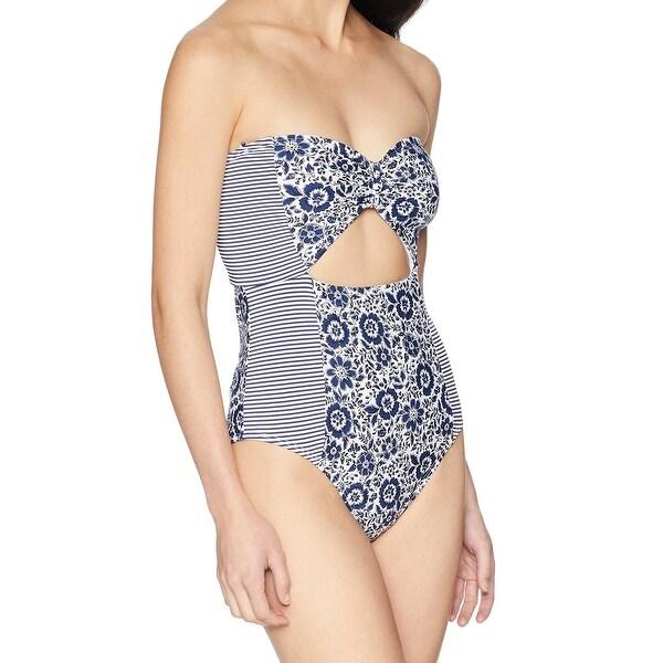 866fc062069 Shop Splendid White Womens Medium Floral One-Piece Swimwear - Free ...