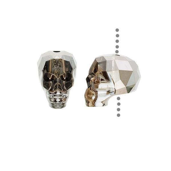 Swarovski Crystal, 5750 Skull Bead 13mm 1 Piece, Crystal Silver Night