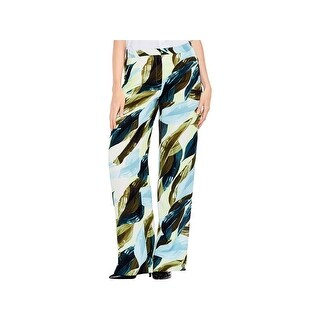 Vince Camuto Womens Breezy Leaves Wide Leg Pants Printed Daytime
