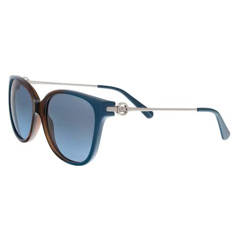 9547cdb384 Michael Kors MK6006 300717 Marrakesh Teal Brown Cat Eye Sunglasses - 57-16-