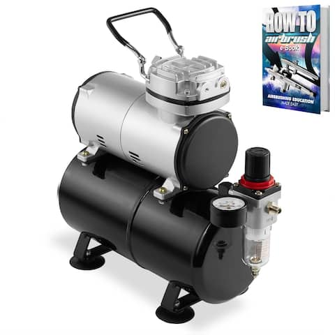 1/5 HP Airbrush Compressor with Tank, Gauge and Water Trap