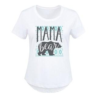 Fairl Isle Pj Mama Bear - Ladies Plus Size Scoop Neck Tee