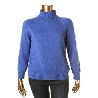 Karen Scott Womens Petites Marled Long Sleeve Pullover Sweater - pxl