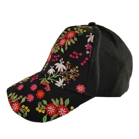 Top Headwear Floral Embroidery Baseball Cap