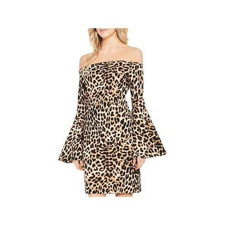 Vince Camuto Womens Bodycon Dress Off-The-Shoulder Night Out