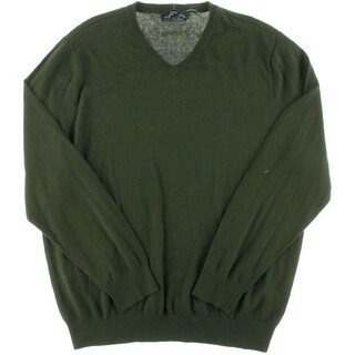 John Ashford Mens Knit V-Neck Pullover Sweater