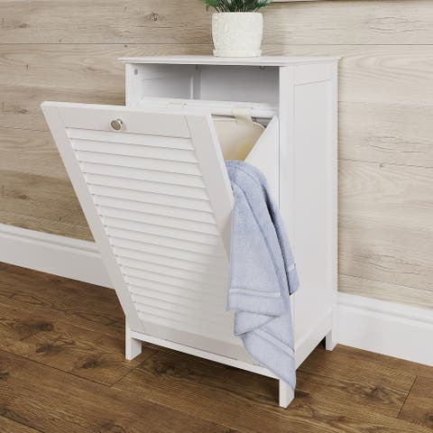 Ellsworth Tilt-Out Laundry Hamper, White