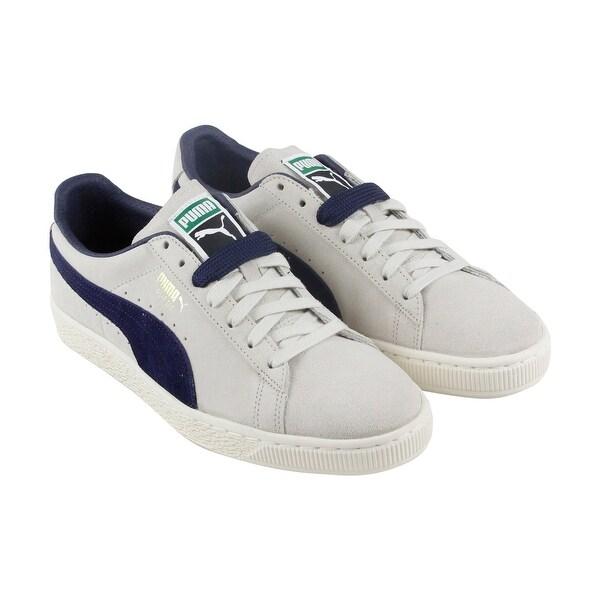 7ede9607478c3c Shop Puma Classic Archive Mens Gray Suede Lace Up Sneakers Shoes ...