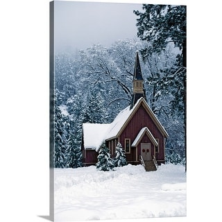 """Church in Yosemite National Park, California"" Canvas Wall Art"