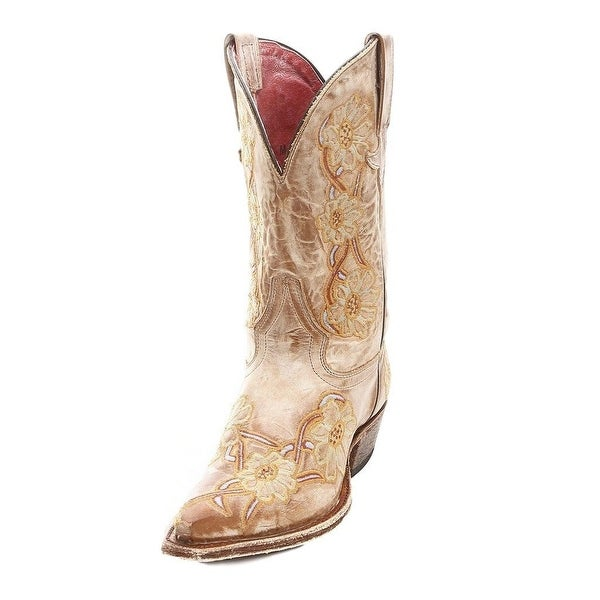 Macie Bean Western Boots Womens Cowboy You're No Daisy Jim Camel