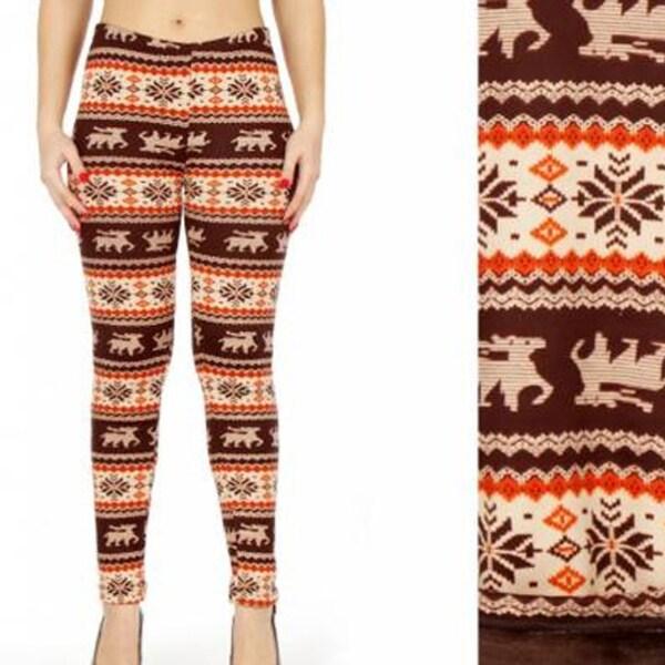 e183e9434254d8 Shop Women Winter Nordic Christmas Deer Snowflake Printed Fur Lined Fleece  Blanket Leggings Pants - Free Shipping On Orders Over $45 - Overstock -  23041219