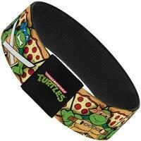Classic Tmnt Turtle Poses Pizza Slices Elastic Bracelet