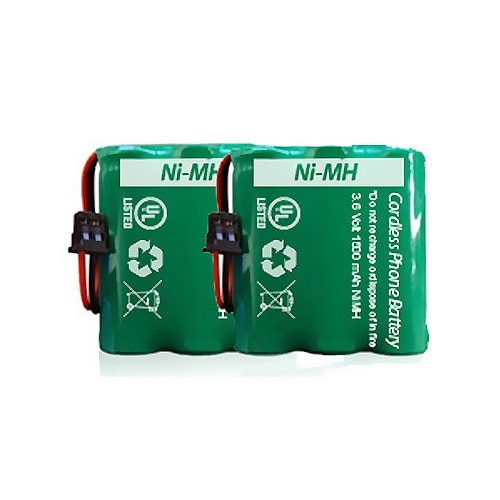 Replacement Panasonic HHR-P401 NiMH Cordless Phone Battery (2 Pack)