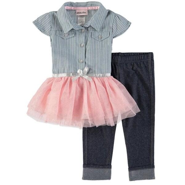 699dd2e67702 Shop Little Lass Girls 4-6x Tulle Top Capri Set - Multi - Free Shipping On  Orders Over $45 - Overstock - 21691068