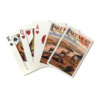 Lake Mead Recreation Area Bighorn Sheep LP Artwork (Poker Playing Cards Deck)