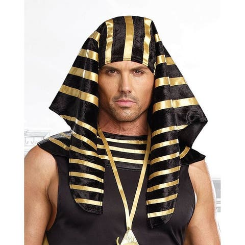 Pharaoh Adult Costume Headpiece - Gold