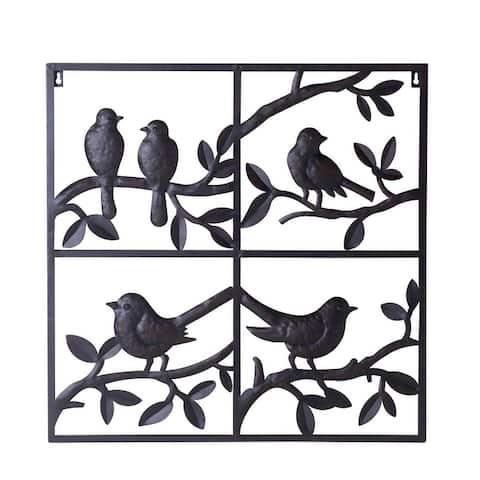 Sunjoy Decorative Birds Perching Wall Art