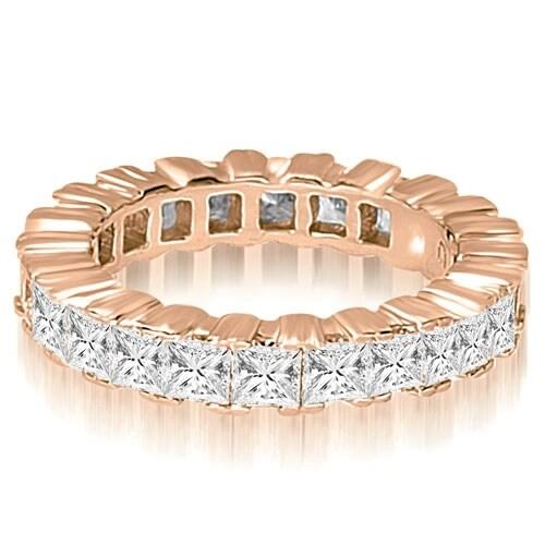 6.80 cttw. 14K Rose Gold Princess Prong Diamond Eternity Ring