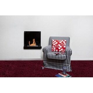 Bio Blaze Velona Burning Fireplace in Black