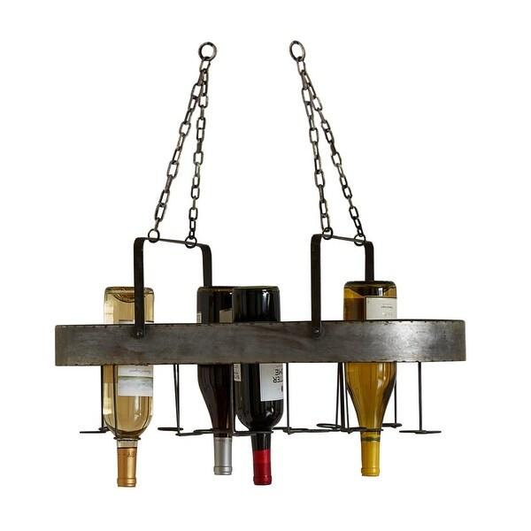 """Set of 2 Metal 19 Bottle Wine Hanging Racks 25.25"""" - N/A"""