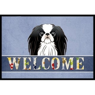 Carolines Treasures BB1416MAT Japanese Chin Welcome Indoor & Outdoor Mat 18 x 27 in.