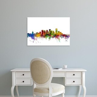 Easy Art Prints Michael Tompsett's 'Edmonton Canada Skyline' Premium Canvas Art