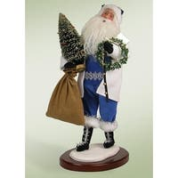 "Walking In A Winter Wonderland Santa Claus Christmas Caroler Figure 18"" - BLue"