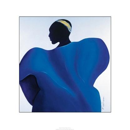 ''Majestic Blue'' by Patrick Ciranna Prime Arts Art Print (23.6 x 19.7 in.)