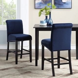 Link to Milan Velvet Counter Chairs Similar Items in Dining Room & Bar Furniture