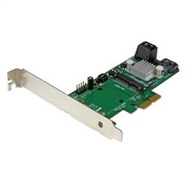 StarTech Controller Card PEXMSATA343 3Port PCI-Express SATA 6Gbps RAID with mini-SATA Slot Retail