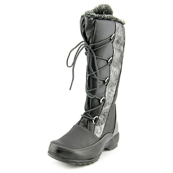 Sporto Predator Women Round Toe Canvas Black Snow Boot