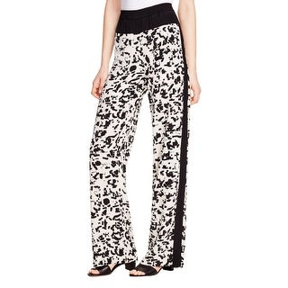 Vince Womens Wide Leg Pants Silk Printed - XS
