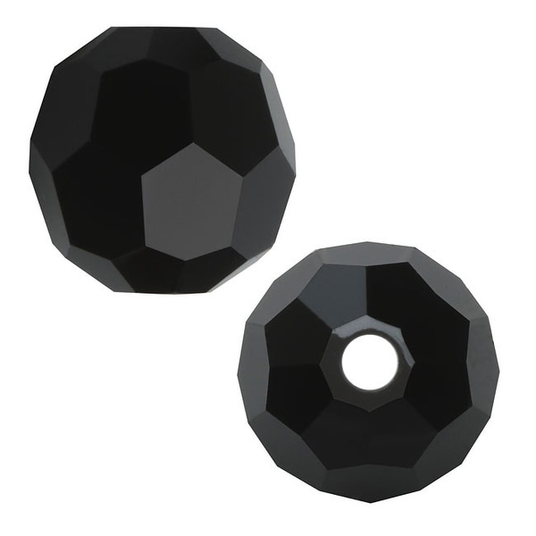 Swarovski Crystal, 5000 Round Beads 2mm, 20 Pieces, Jet