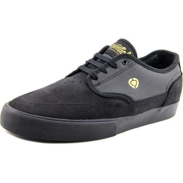 C1rca Essential Men Round Toe Leather Black Skate Shoe