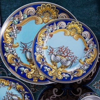 Tres De La Mer fine china dinnerware set 58 piece service for 6 *CLOSEOUT PRICING*