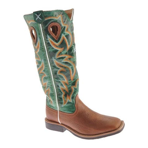 Twisted X Boots Children's YBK0005 Cognac/Turquoise Leather