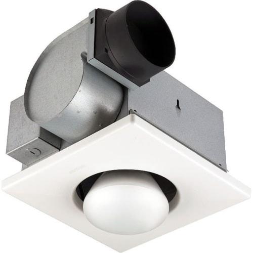 NuTone 9417DN 70 CFM 3.5 Sone Ceiling Mounted HVI Certified Bath Fan with Heating Light