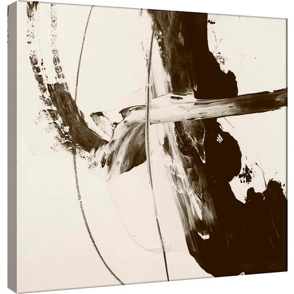 """PTM Images 9-100898 PTM Canvas Collection 12"""" x 12"""" - """"Sepia H"""" Giclee Abstract Art Print on Canvas"""