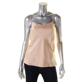 Elizabeth and James Womens Lena Camisole Top Satin Button-Up Sides - l