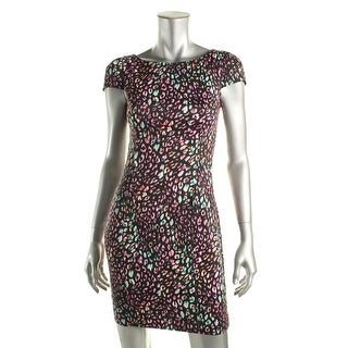 French Connection Womens Stretch Animal Print Party Dress - 2