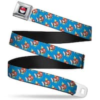 Pok Ball Full Color Black Magikarp Monogram Blue Webbing Seatbelt Belt Seatbelt Belt