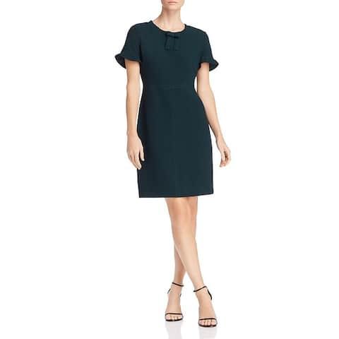 Karl Lagerfeld Womens Wear to Work Dress Crepe Short Sleeves
