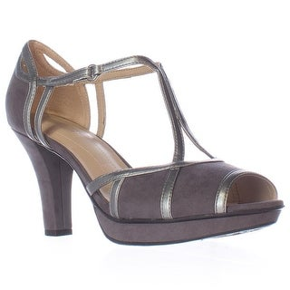 naturalizer Dacoma T-Strap Peep Toe Dress Heels - Grey